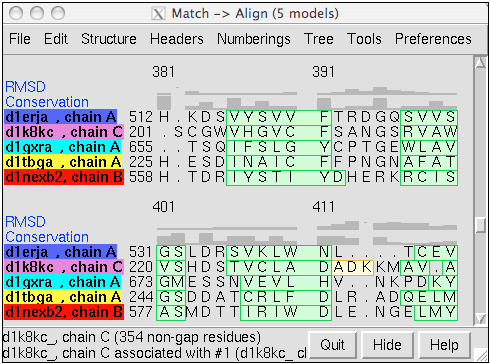 structure-based sequence alignment